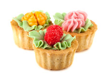 Three cakes basket Royalty Free Stock Photography