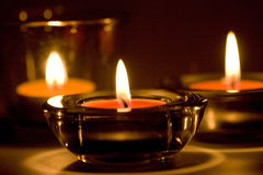Free Three Candles Royalty Free Stock Image - 12076736