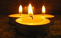 Three Candles Stock Photos