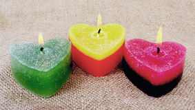 Three candles. Stock Photography