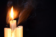 Three Candles Stock Photo