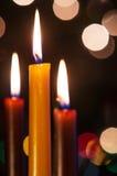 Three Candles Royalty Free Stock Photos