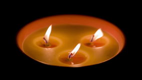Three Candles in the dark stock video
