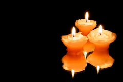Three candles Stock Image
