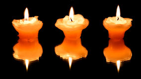 Three candles Royalty Free Stock Photos