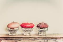 Three candles Stock Image
