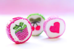 Three candy. Royalty Free Stock Images