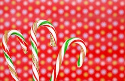 Three candy canes Royalty Free Stock Image