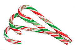 Three candy canes Royalty Free Stock Photography