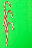 Three candy canes Royalty Free Stock Photo