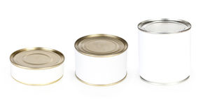 Three canned food Stock Photography