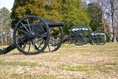 Three Cannons Stock Photography