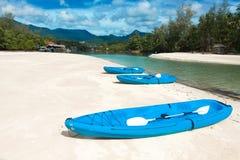 Three canoes Stock Photography
