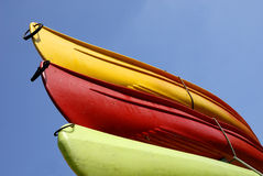 Three canoes Royalty Free Stock Photo