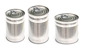 Three cans of food Stock Photography
