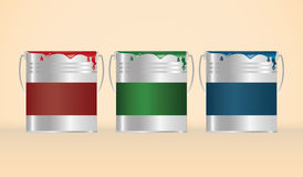 Three cans of paint RGB Royalty Free Stock Photography