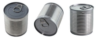 Three cans Royalty Free Stock Images