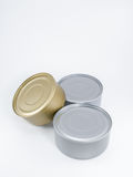 Three Cans Tuna Royalty Free Stock Images