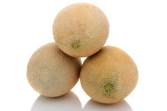 Three Cantaloupes Stock Images