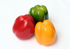 Three Capsicum Stock Photo