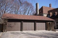 Three car garage Royalty Free Stock Image