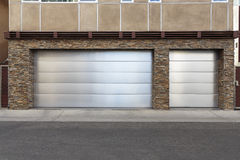 three car garage door Royalty Free Stock Photography