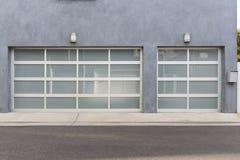 Three car garage, grey Royalty Free Stock Images