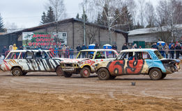 Three car gladiators Royalty Free Stock Image
