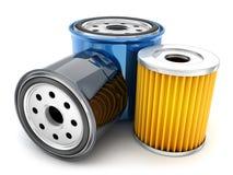 Three car oil filter Royalty Free Stock Photo