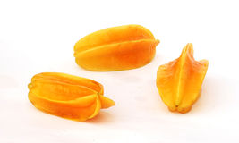 Three carambolas Stock Images