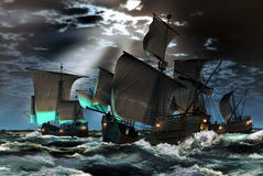 The three caravels Stock Photo