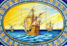 The three caravels of Christopher Columbus, La Rabida, Huelva province, Spain Stock Photography