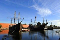 The three caravels of Christopher Columbus, La Rabida, Huelva province, Spain Royalty Free Stock Photos