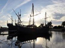 The three caravels of Christopher Columbus, La Rabida, Huelva province, Spain Stock Photos