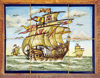The three caravels of Christopher Columbus, Spain Stock Image