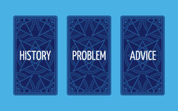 Three card tarot spread. Problem solution Royalty Free Stock Image
