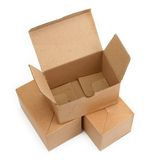 Three cardboard boxes Stock Photos