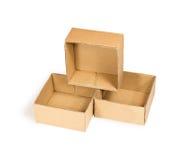 Three cardboard boxes Royalty Free Stock Photo
