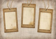 Three cardboard frames Stock Image