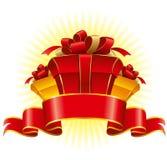 Three cardboard gift box Royalty Free Stock Image