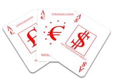 Three cards Stock Image