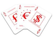Three cards Stock Image