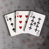 Three cards Royalty Free Stock Image