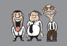 Three caricature businessmen Royalty Free Stock Photography