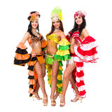 Three carnival dancers posing Stock Photo