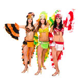 Three carnival dancers posing Royalty Free Stock Photo