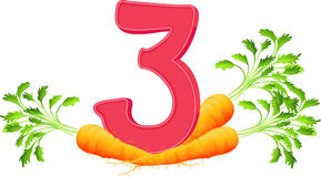 Three carrots Stock Image