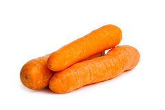 Three carrots  over white Stock Photography