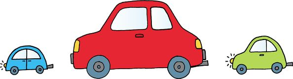 Three cars Stock Image