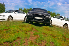 Three cars on nature Stock Photo
